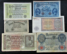 Set of 6 Germany Old Paper Money