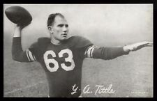1948 W468 EXHIBIT~Y.A. TITTLE~HALL OF FAME ROOKIE CARD~PERFECTLY CENTERED~49ERS
