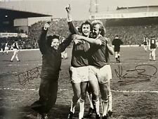 More details for trevor francis and kenny burns signed birmingham city photo 16 x 12