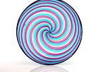 Vintage Murano Multi Coloured Avventurine Art Glass A Canne Bowl Venini Bianconi