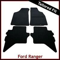 FORD RANGER Mk2 2006-2011 Tailored Carpet Car Floor Mats BLACK