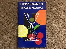 Vintage - Fleischmann's Whiskey Gin Rum Drink Mixer's Manual 1950s
