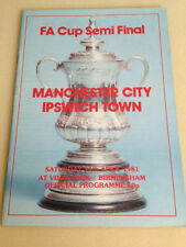 Ipswich Town FA Cup Home Teams F-K Football Programmes