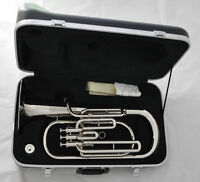 Top Quality 3 Piston Silver Nickel Baritone Horn Bb Keys Brand New With Case