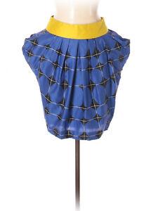 Odille Anthropologie Blue & Black Geometric Print Skirt, Size 2, NWT!