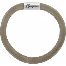 NWT Brighton WOODSTOCK DUNE Single Leather Bracelet Putty Grey  M/L  MSRP $40