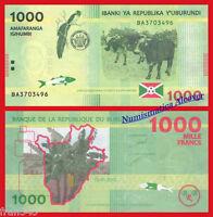 BURUNDI 1000 Francs francos 2015  Pick 51 SC / UNC