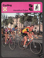 HENDRIKUS KUIPER Cycling Zoetelmek Johan De Muynck 1978 SPORTSCASTER CARD 43-17