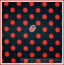 BonEful Fabric FQ Cotton Quilt Gray Red Minnie Mickey Ladybug Quarter Polka Dot
