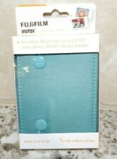 FUJI FILM INSTAX ALBUM- GREEN - HOLDS 8  2 X 3 INSTAX PHOTOS W/ BONUS STICKERS