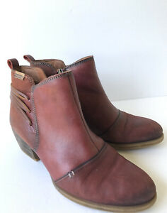Pikolinos EUR 40 US 9 Baqueira Ankle Boots Women's Brown Leather