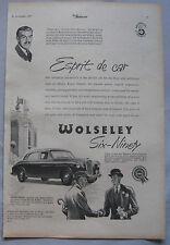 1955 WOLSELEY SIX-NOVANTA ORIGINALE annuncio No.1