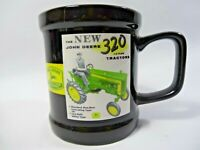 John Deere Mug Cup Black Vintage Ads 2008 Green Farm Tractor Collectible Gift