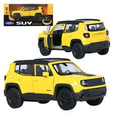 WELLY SUV 1:32 Jeep Renegadde Trailhawk Yellow Display Mini Car Miniature Car