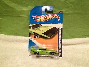 1970 PLYMOUTH SUPERBIRD 2012 SUBLIME GREEN/BLACK 1:64 HOT WHEELS ITEM V5627-07A1