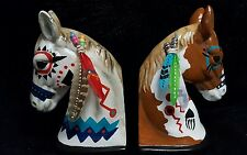 Native American Style Horses -Bookends Southwest Decor Native American Inspired