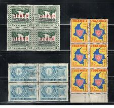 COLOMBIA  STAMPS CANCELED USED BLOCKS    LOT 22265
