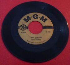 45 RPM Connie Francis Many Tears Ago + Breaking in a Brand New Broken Heart