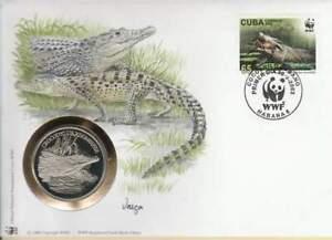 Numisbrief WWF 2003 Luba - Crocodylus Rhombifer / Ruitkrokodil (077)