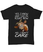 Heifer Don't Care T-shirt Cow Lover Funny Tee Gift For Girl Women Farmer Cattle