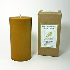 Hand-Poured All Natural Pure Bayberry Wax Traditional Pillar Candle