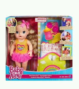 Baby Alive Exclusive Release Darcis Dance Class Blonde Doll Bonus Diaper Bag/Mat