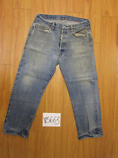 Vintage 1980 Levi transitional Black Bar Usa jean tag unclear meas 33x27.5 V5663