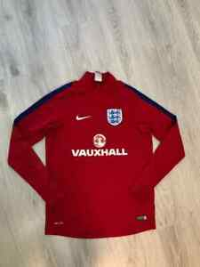 2016/2017 England Nike Training Drill Top Red Football Soccer Jacket Mens M