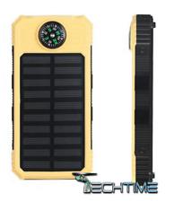 POWERBANK CARICABATTERIE PORTATILE SOLARE CON BUSSOLA 2 PORTE USB 18000 MAH