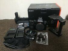 SONY Alpha a7 24.3MP Digital Camera - Black BUNDLE CAGE BATTERY GRIP