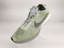 Nike Flyknit Racer Green Athletic Road Running Shoes Sneakers 526628-103 Mens 13