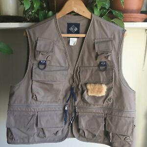 COLUMBIA ~ Men's Vtg 12-Pocket Sportswear Fly Fishing Vest #FM1010 ~ Sz L ~ EC ~
