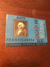 1950 Pennsylvania vs Navy Ticket Stub Benjamin Franklin Pic 10/28/50 Sharp!