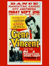 "Gene Vincent Kansas 16"" x 12"" Photo Repro Concert Poster"