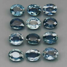 5.06 Carats 12pcs Lot 5x4mm Natural UNHEATED Blue SAPPHIRE Oval for Jewelry Set