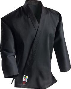 Wacoku Black Karate Middleweight Kata Jacket, 10oz Standard Cut Uniform