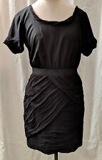 Diane von Furstenberg Women's Black Dress Short Sleeve Dress Size 6