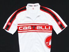 MEN'S WHITE/RED CASTELLI JERSEY SHIRT CYCLING CYCLE SIZE: L (LARGE)