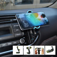 360° Rocker Arm Mobile Phone Holder Car Air Vent Clip Bracket For Samsung iPhone