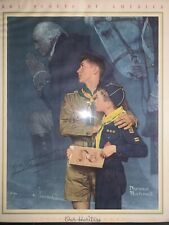 Vintage Norman Rockwell Boy Scout Original Our Heritage 16W-20L Not A Print