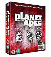 "PLANET OF THE APES PRIMAL COLLECTION BOX SET 8 DISCS RB BLU-RAY ""NEW&SEALED"""