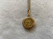 Elgin Mechanical Wind Up Vintage Pendant or Necklace Watch