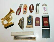 Lot of 11 Novelty Lighters / Torch / Lighter Case - Football, Dolphin, Superbowl