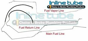 1995-99 Buick Lesabre Preformed Fuel Return Vapor Lines Kit Set Tubes SS