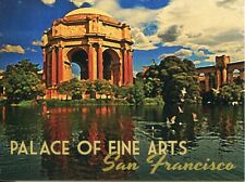 POST CARD OF TRAVEL POSTER FOR SAN FRANCISCO SHOWING THE PALACE OF THE FINE ARTS