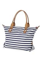 "Stella & Dot ""How Does She Do It"" Navy/White Stripe Bag  2 Styles Tote Satchel"