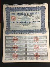 union commerciale et industrielle pour la mandchourie 1931