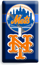 New York Mets Ny Baseball Mlb Single Light Switch Plate Man Cave Room Decoration