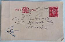 1959 Royal coats of arms postcard World POSTAL STATIONARY 2 1/2D ELIZABETH stamp