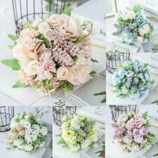 Peony Rose Flowers Silk Artificial Fake Bunch Bouquet Home Wedding Party Decor